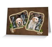 Pup 'N Boots Greeting Card