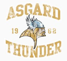 Asgard Thunder Football Athletic Tee Kids Clothes