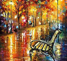 Park Of Love - original oil painting on canvas by Leonid Afremov by Leonid  Afremov