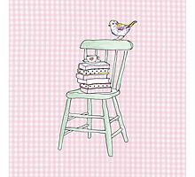 bird on a chair knows what's up! Photographic Print