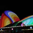 """Vivid"" Lighting The Sails 2011 - III by Anthony Ogle"