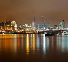 Saint Paul's Cathedral at Night Skyline, London by Ryder49