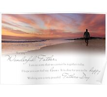 Fathers Day (Card From Child To Father) Poster
