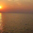 Beautifull sunset in sea by Eduard Isakov