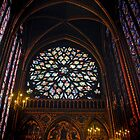 Interior Sainte Chapelle-Paris, France by John Taylor