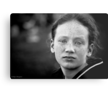 Another day, another eldest sibling worn down by her numerous brothers and sisters and wishing (if only for a day or two) she were an only child Metal Print