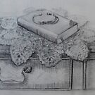 Still Life with Book by Geraldine M Leahy