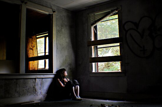 """Contentment"" Self Portrait, Abandoned House, CT by MJD Photography  Portraits and Abandoned Ruins"