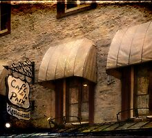 Cafe Awnings, Quebec City by Margaret Goodwin
