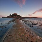 St .Michael's Mount Sunset  by Douglas  Latham