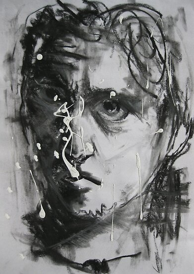 Self Portrait drawing day 2011 by Jedika