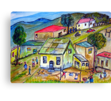 Life in a township. Canvas Print