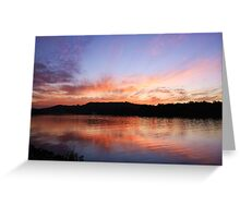 as the sun sets... Greeting Card