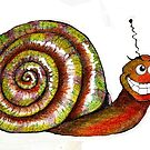 Mr. Snail Illustration by plunder