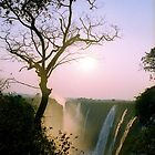 Sunset over Victoria Falls by Alberto  DeJesus