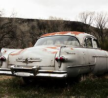 With a View of the Road - Old Packard by TWindDancer
