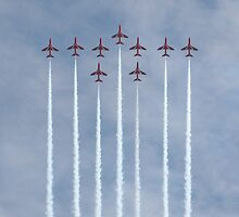 Perfect Formation - Red Arrows by JenMetcalf