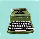 Green Royal Typewriter by Ryan Conners
