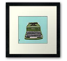 Green Royal Typewriter Framed Print