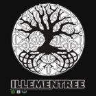 Illementree Logo Merch 2 - solid white flower by David Avatara