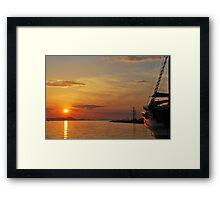 mellow harbour sunset Framed Print