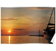 mellow harbour sunset Poster