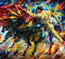 Corrida - original oil painting on canvas by Leonid Afremov by Leonid  Afremov