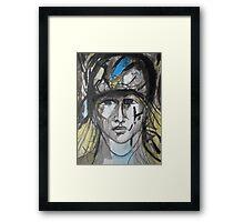 Lady Soldier Framed Print