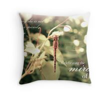 Celebrating the Miracle of Her Life - Birthday or Special Date Throw Pillow