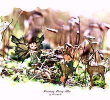 'Elves with Deer' by Pixelbloke