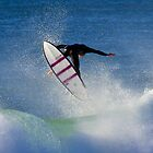 surfer off Collaroy by Doug Cliff