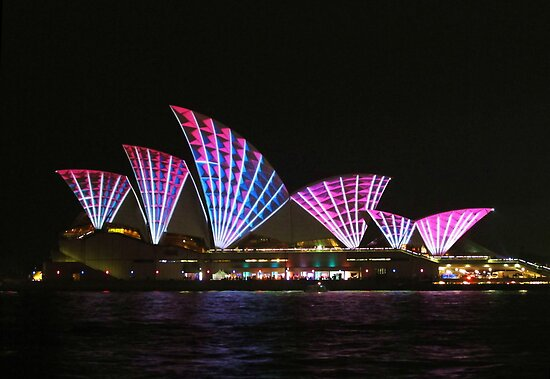 Vivid Sydney Opera House by Michael John
