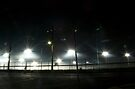 Bright lights, race night. by Hayley Joyce