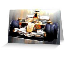 Formula One Greeting Card