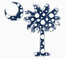 Blue Polka Dots Palmetto Moon by PalmettoTrading