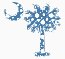 Light Blue Polka Dots Palmetto Moon by PalmettoTrading