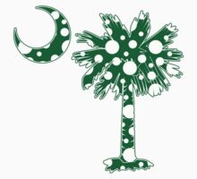 Green Polka Dots Palmetto Moon by PalmettoTrading