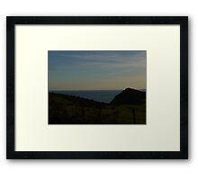 On The Cliff Framed Print
