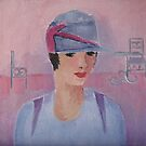 In Military Style (Cloche Hat from the Twenties) by Marie Theron