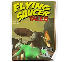 Flying Saucer Tales Fake Pulp Cover Poster
