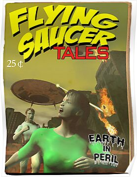 Flying Saucer Tales Fake Pulp Cover by mdkgraphics