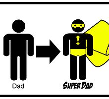 Super Father's Day Card by Michael Lee