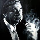 Portrait With Pipe by Ognjen Stevanović
