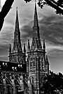 Spires of St Mary's, Sydney by Chris Westinghouse