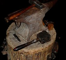Hammer and anvil by Amy Herrfurth