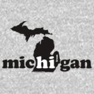 Hi From Michigan - Black by LTDesignStudio