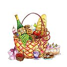 Basket of Cheer by Mariya Olshevska