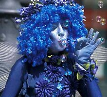 Blue lady street artist. by sandyprints