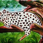 The Leopard, for Africa Series, watercolor by Anna  Lewis