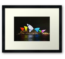Vivid Sydney Opera House Framed Print